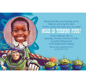 custom toy story power up invitations party city