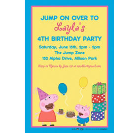 Custom peppa pig invitations thank you notes party city custom peppa pig invitation filmwisefo