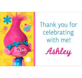 Trolls invitations 8ct party city custom trolls thank you note filmwisefo