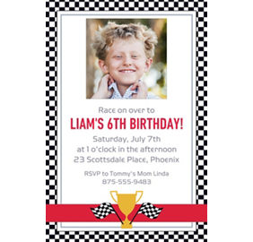 custom race car invitations party city