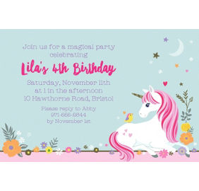 Custom magical unicorn invitations party city custom magical unicorn invitation stopboris Choice Image