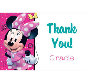 minnie mouse thank you notes 8ct party city