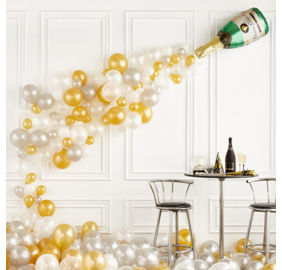 Wedding balloons balloon bouquets party city champagne bottle balloon kit junglespirit Images