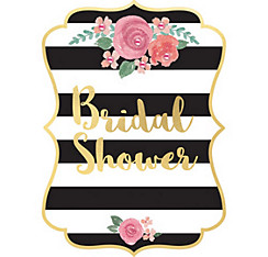 Bridal shower invitations thank you notes invitation kits party black gold bridal shower invitations 8ct filmwisefo