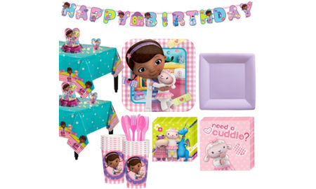 Doc McStuffins Tableware Party Kit For 16 Guests