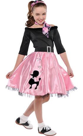 Pink Poodle Skirt For Girls