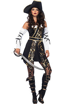 Pirate costumes for women sexy pirate costume ideas party city adult black sea buccaneer pirate costume solutioingenieria Image collections