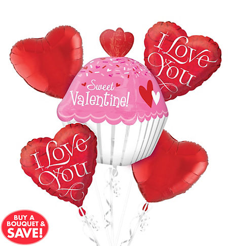 Valentine\'s Day Balloons - Heart Balloon Bouquets   Party City