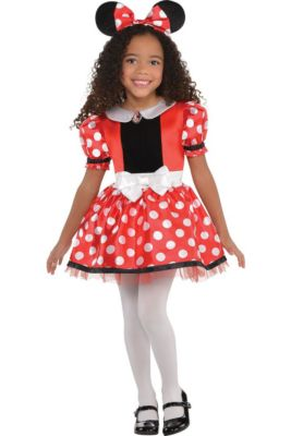 2ee4cbf48 Girls Red Minnie Mouse Costume