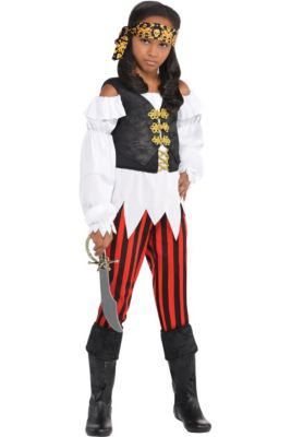 girls pretty scoundrel pirate costume