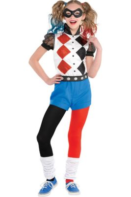5f361cf9e Girls Romper Harley Quinn Costume - DC Super Hero Girls