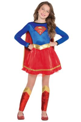 Home Girls Supergirls Costume Kids Muscle Superman Costumes Childrens Day Halloween Costume For Kids Carnival Superhero Costume Choice Materials