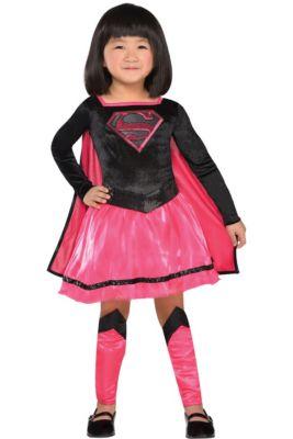 Toddler Girls Pink Supergirl Dress Costume - Superman 1a0b5b2fea1e