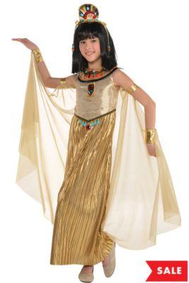 60f5cfdd92d Girls Golden Goddess Costume