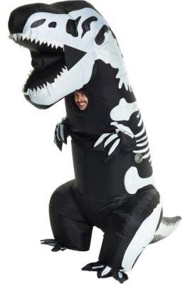 Inflatable Dinosaur Costume T Rex Inflatable Costume Christmas Cosplay Dinosaur Animal Jumpsuit Halloween Costume Family Matchi Mother & Kids