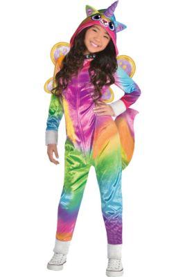 girls felicity costume rainbow butterfly unicorn kitty