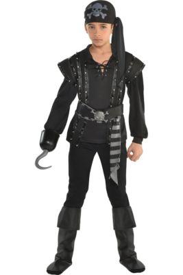 f55f044c077 Boys Dark Sea Scoundrel Pirate Costume