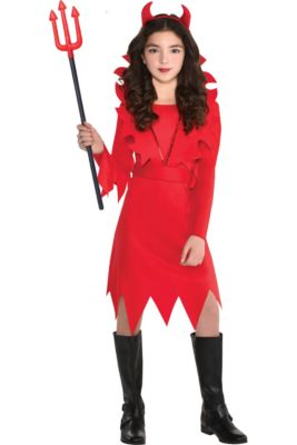 girls devious devil costume
