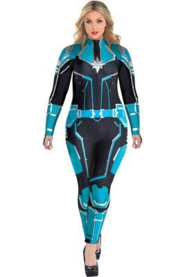 Adult Captain Marvel Starforce Costume Plus Size- Captain Marvel 5930575a5a1b
