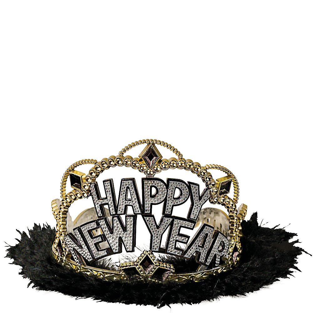 Black, Gold & Silver New Year's Tiara Image #1