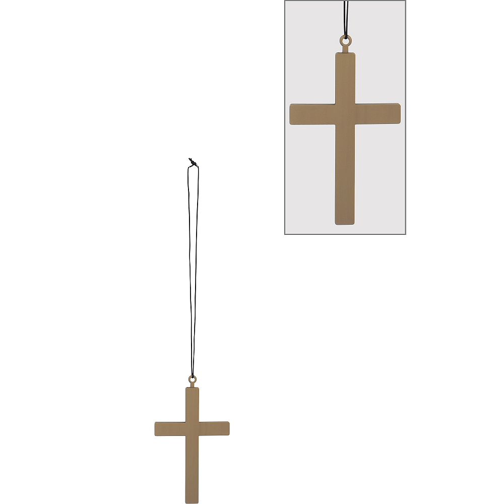 Gold Cross Necklace Image #1