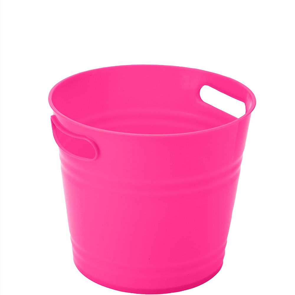 Nav Item for Bright Pink Plastic Ice Bucket Image #1