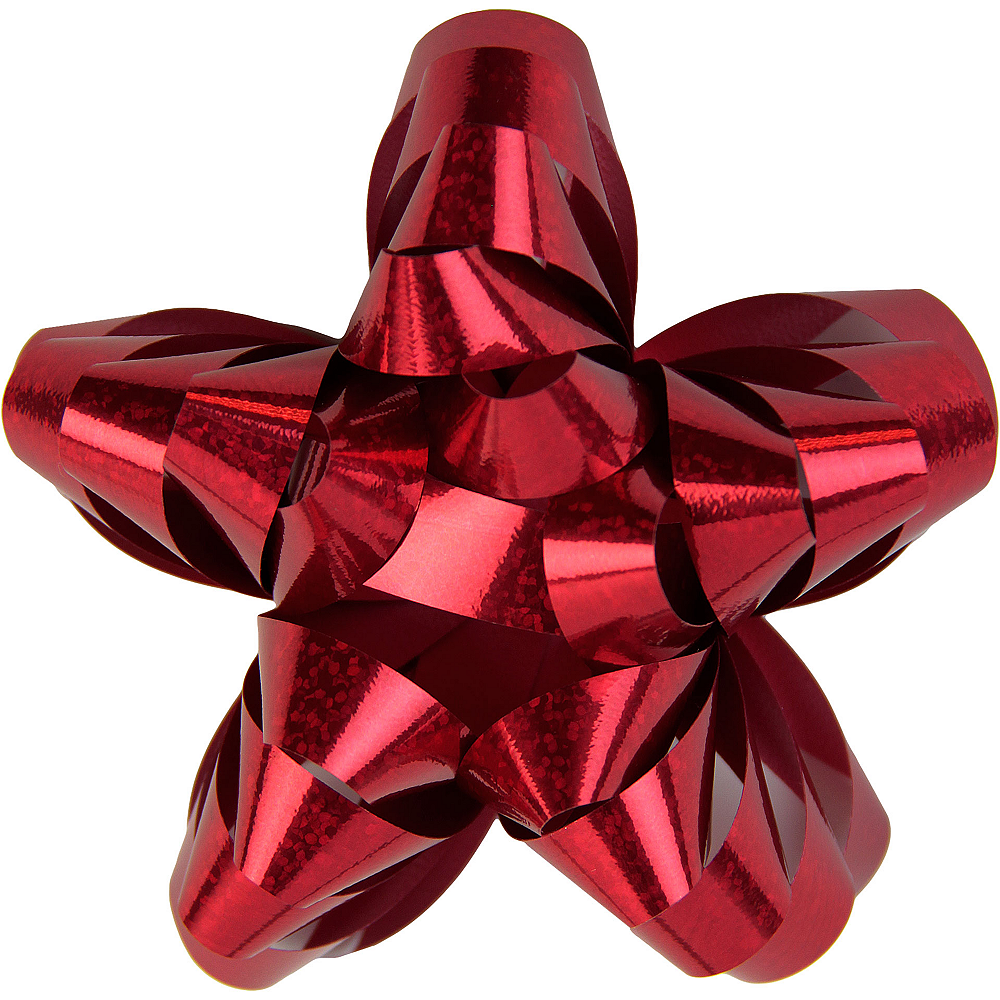 Prismatic Red Star Gift Bow Image #1