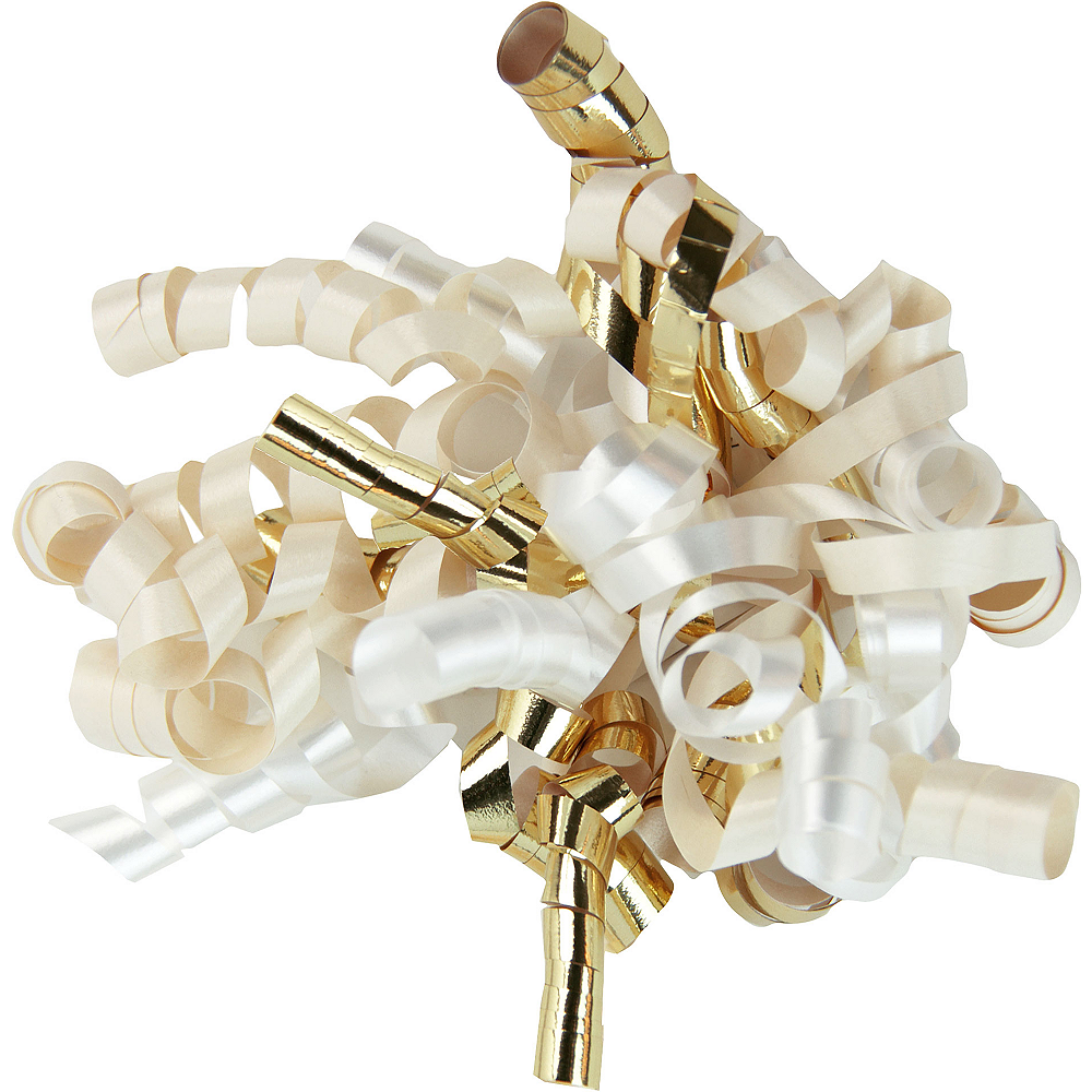 Gold/Cream/White Curly Bow Image #1