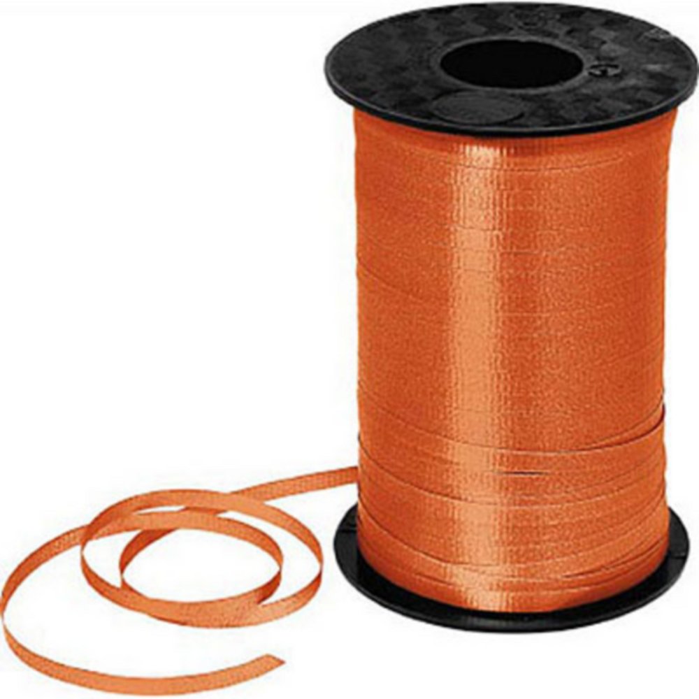 Orange Curling Ribbon Image #1