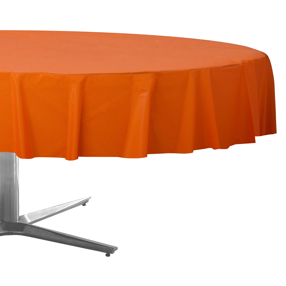 Nav Item for Orange Plastic Round Table Cover Image #1
