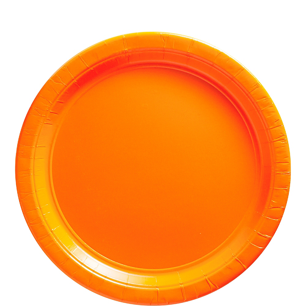 Orange Paper Lunch Plates 20ct Image #1