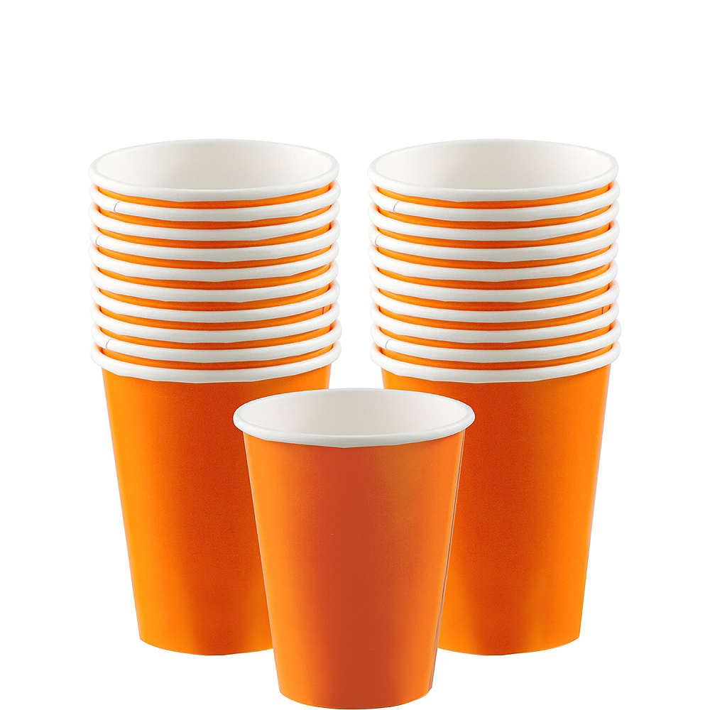 Orange Paper Cups 20ct Image #1