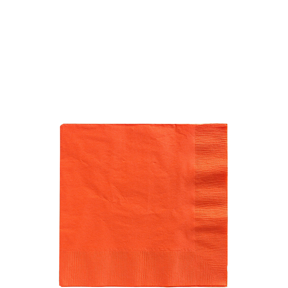 Orange Beverage Napkins 50ct Image #1