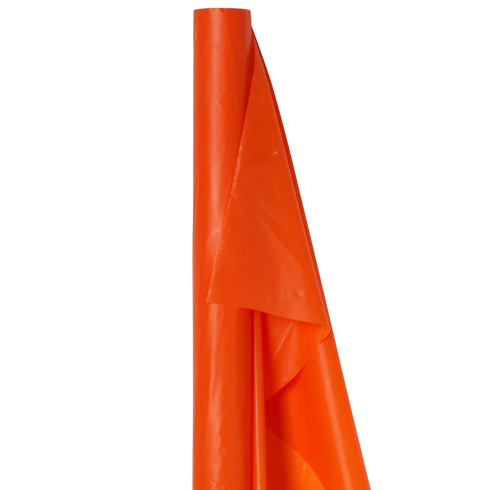 Orange Plastic Table Cover Roll Image #1