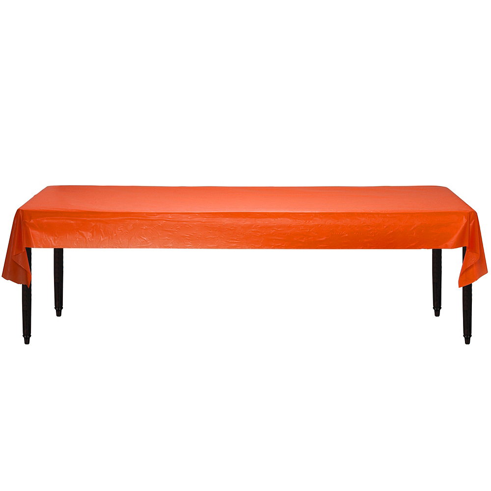 Orange Plastic Table Cover Roll Image #2
