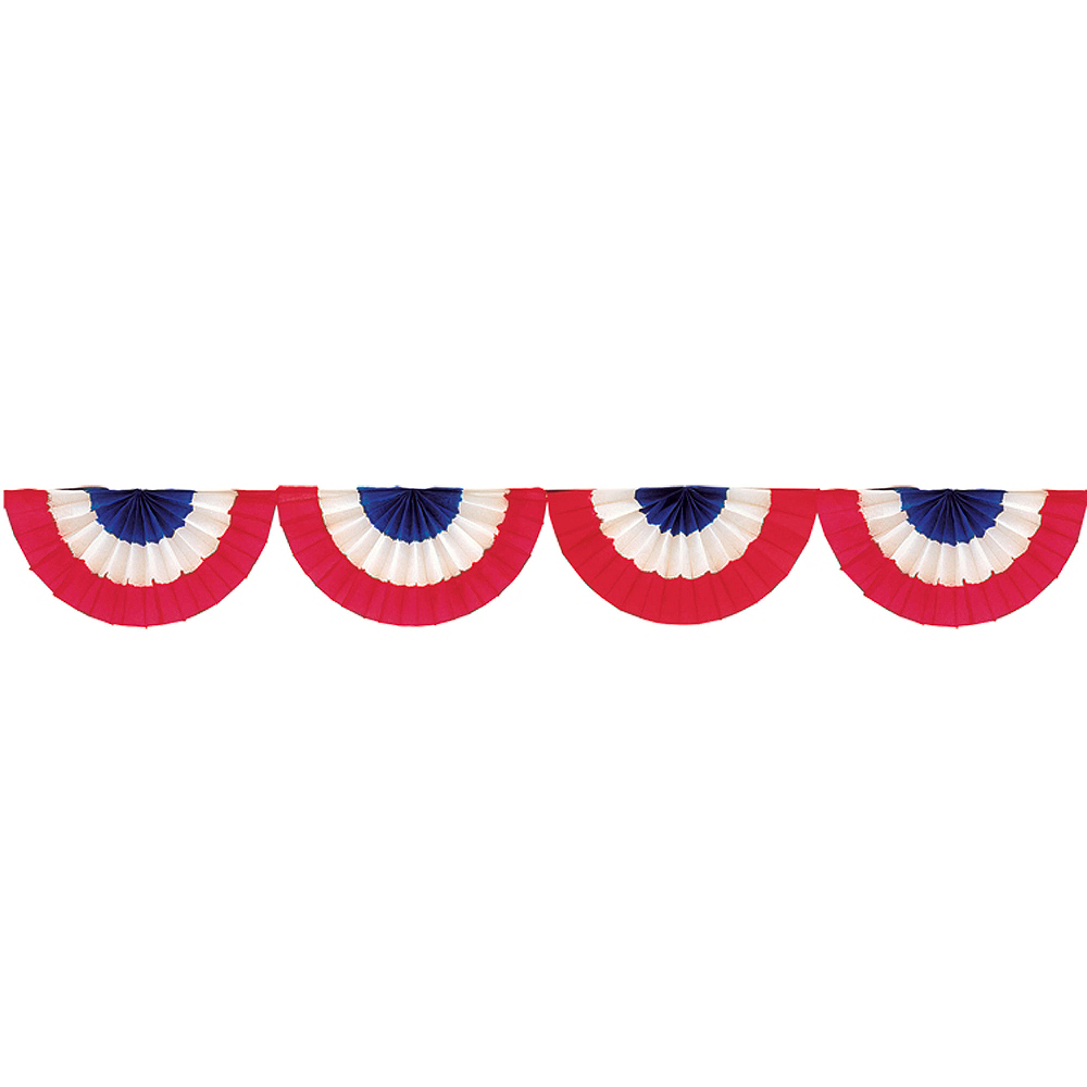 patriotic red white blue bunting 9ft x 9in party city