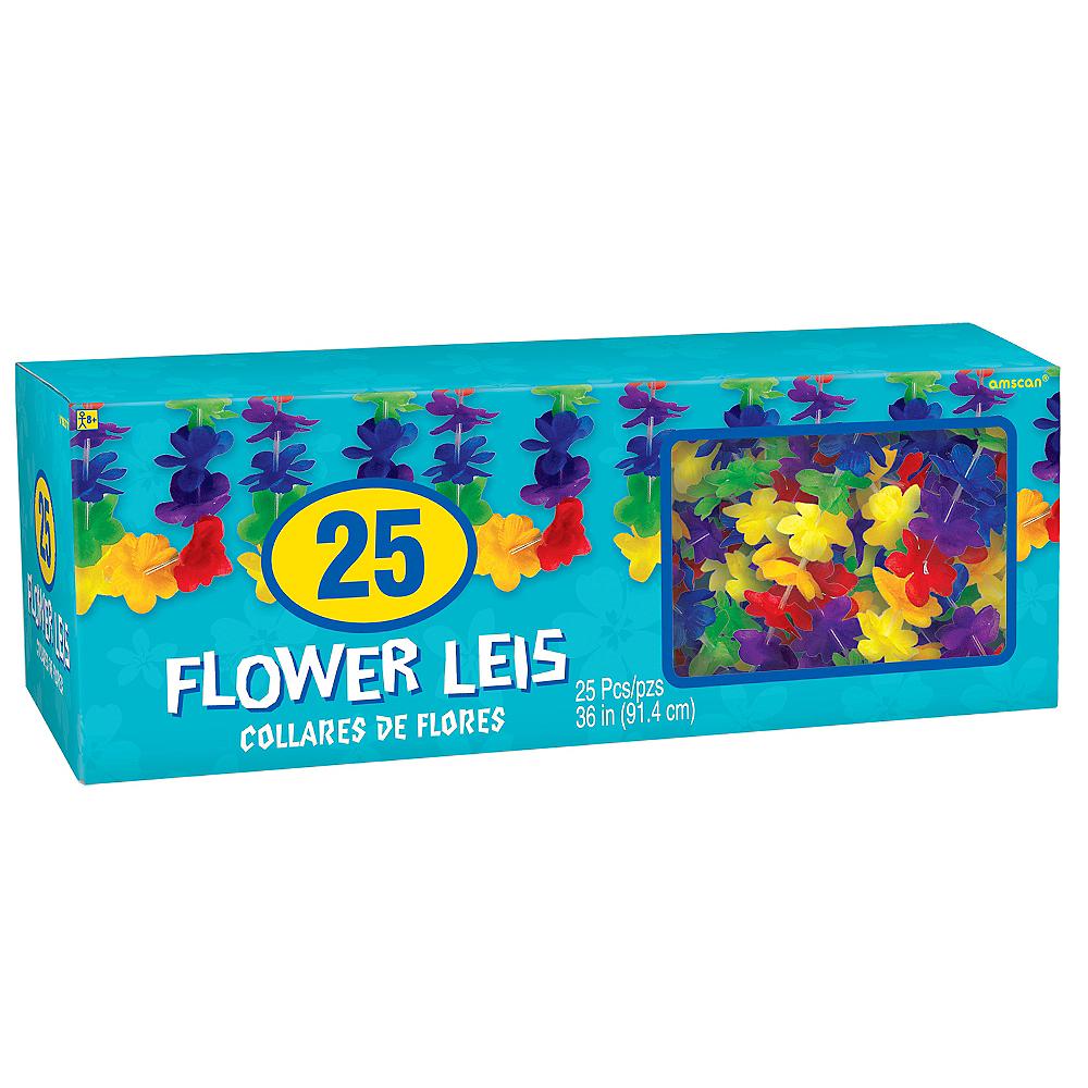 Rainbow Floral Leis 25ct Image #2