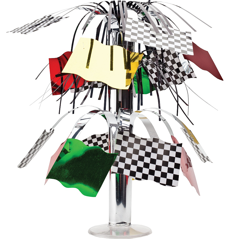 Mini Race Car Flag Spray Centerpiece Image #1