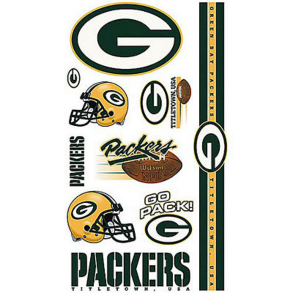 Green Bay Packers Tattoos 10ct Image #1