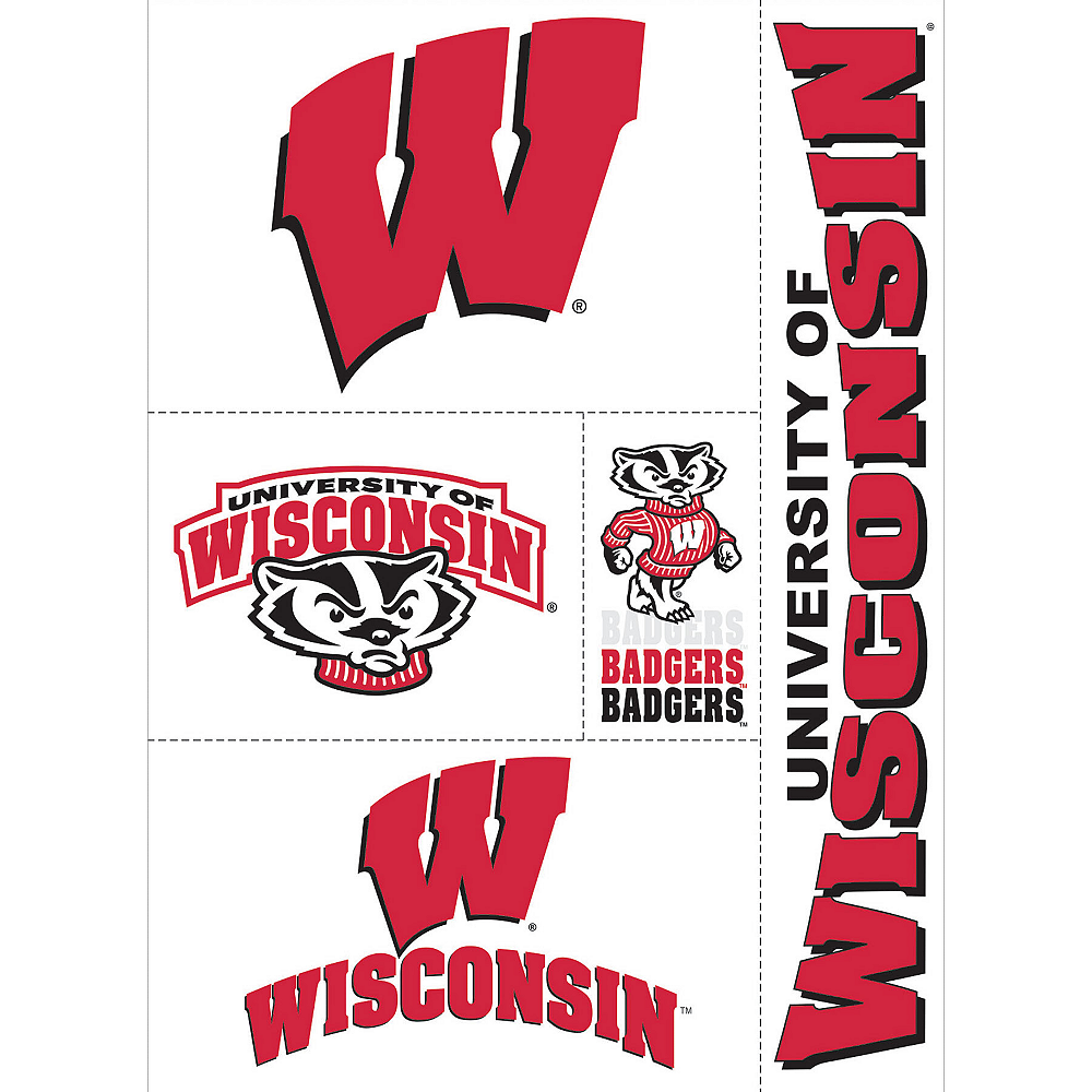 Wisconsin Badgers Decals 5ct Image #1