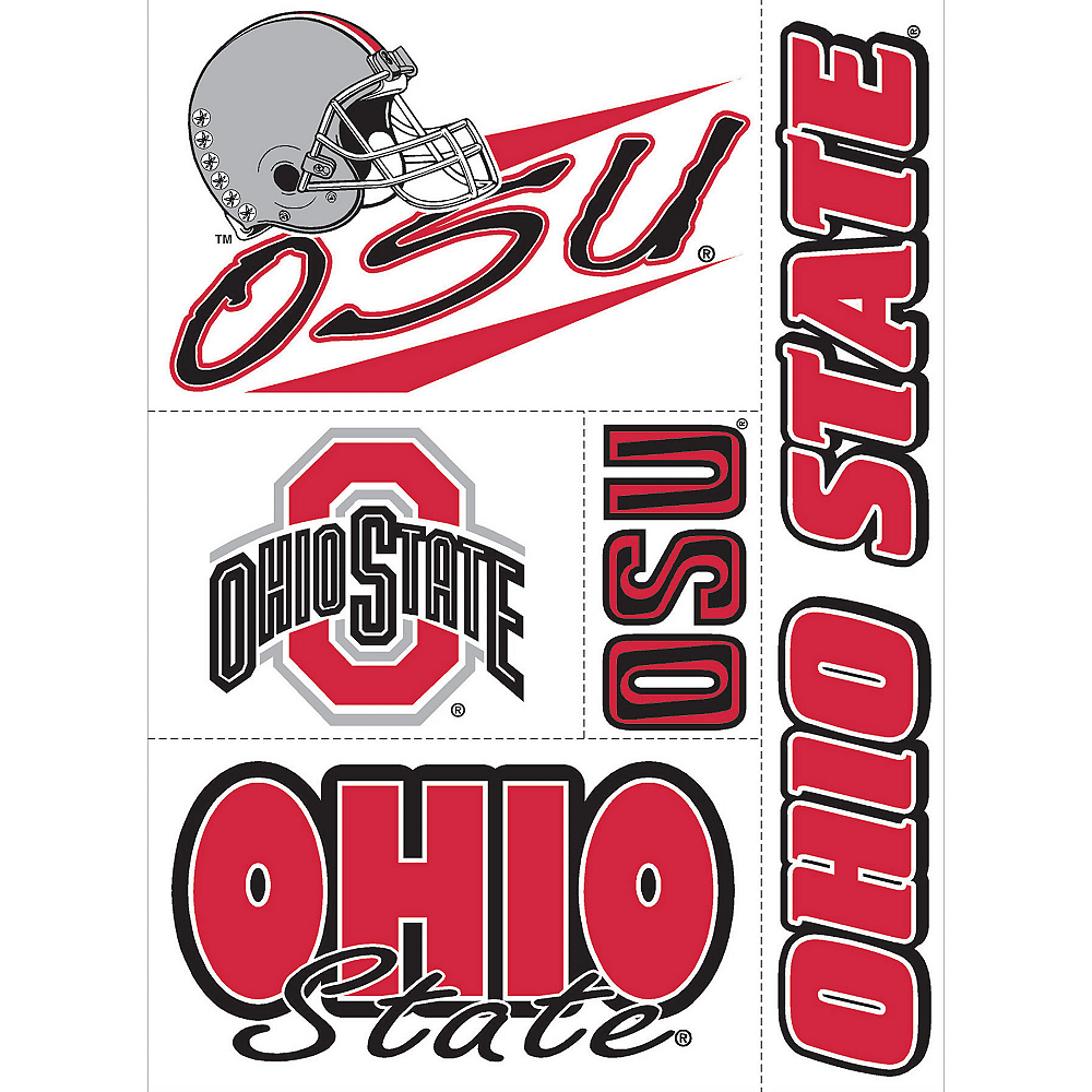 Ohio State Buckeyes Decal Cling 11in X 17in Image #1