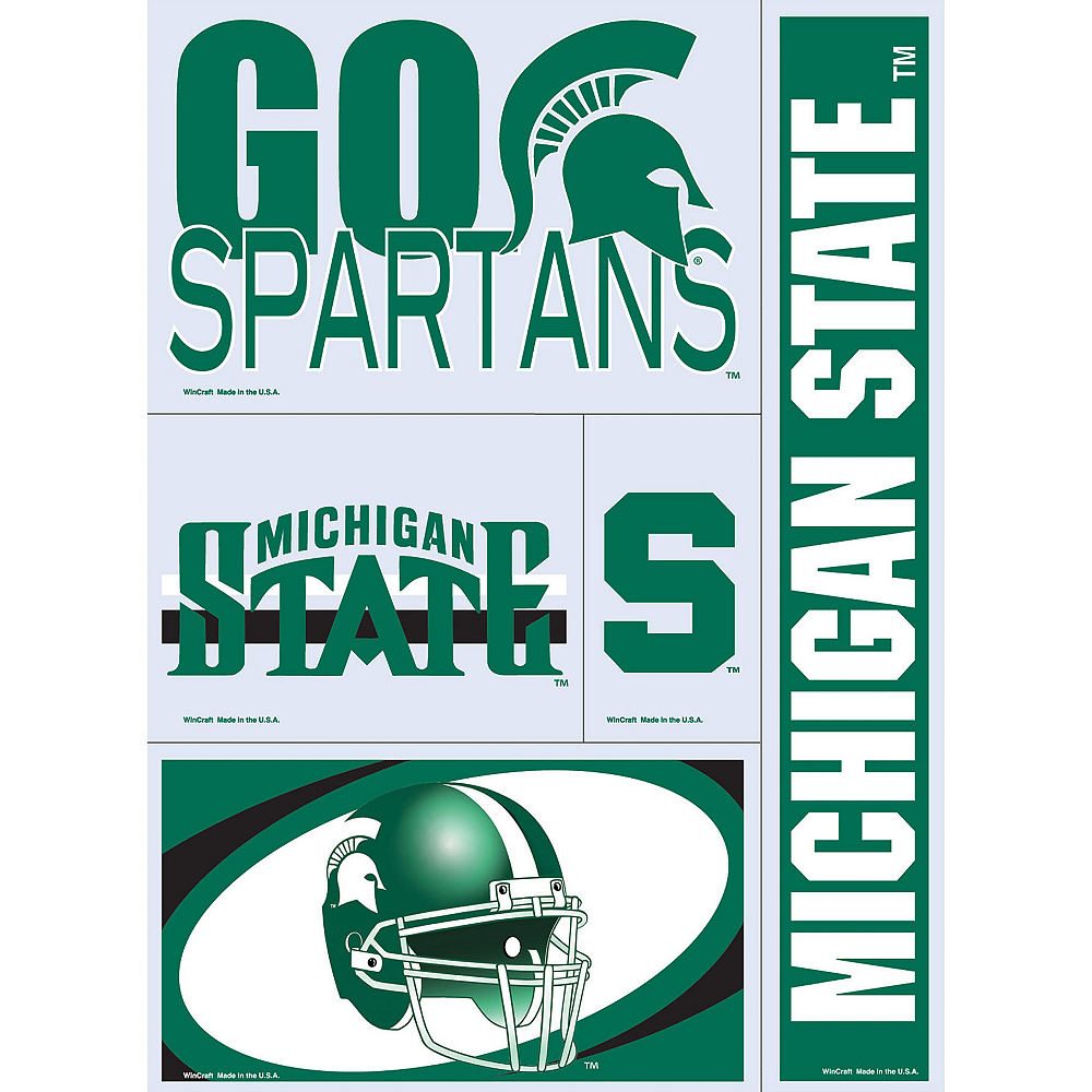Michigan State Spartans Decals 5ct Image #1