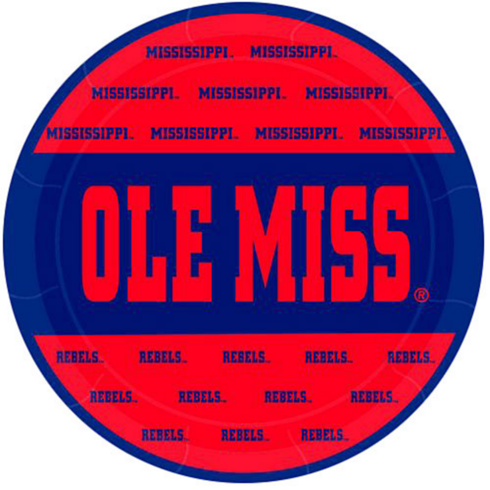 Ole Miss Rebels Lunch Plates 8ct Image #1