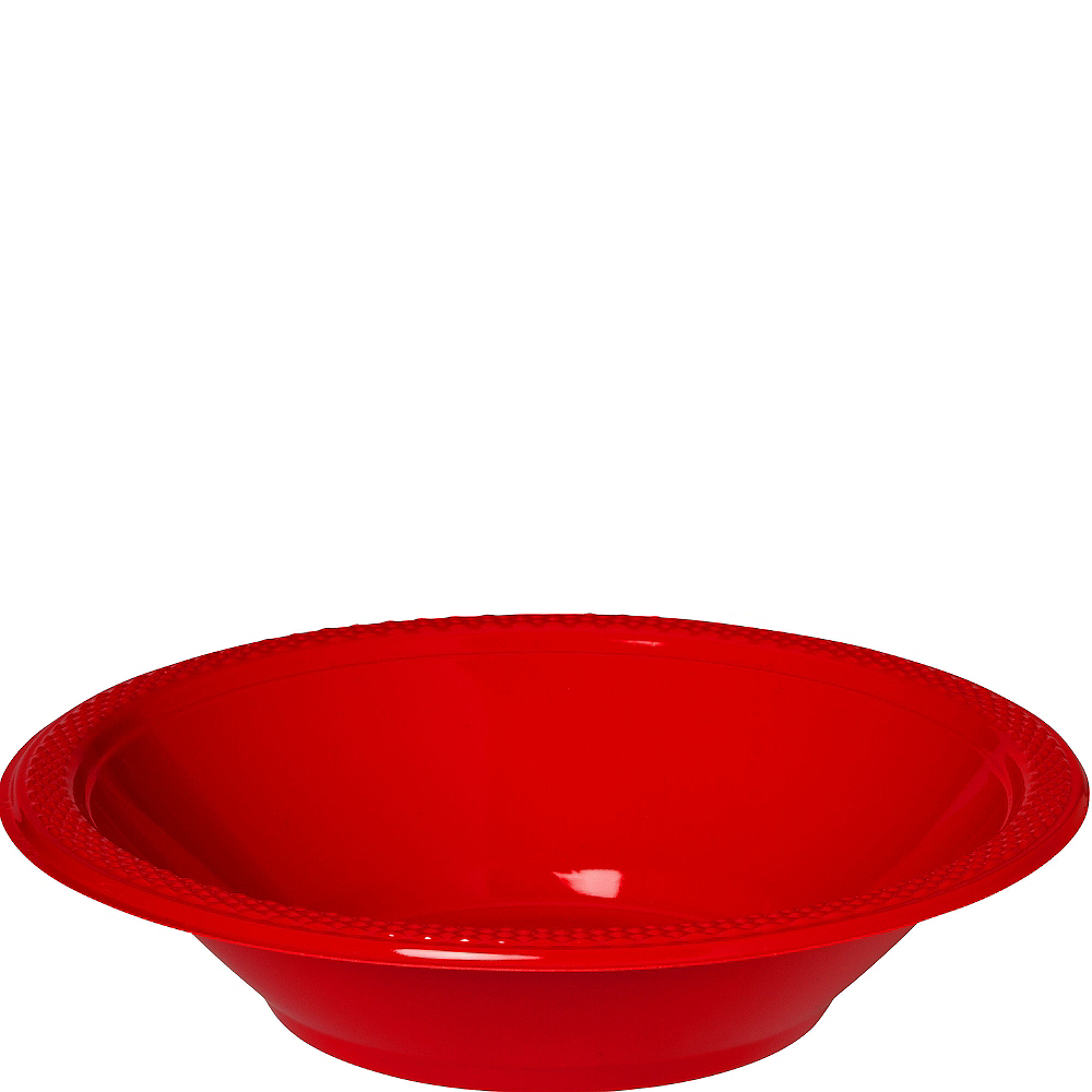 Red Plastic Bowls 20ct Image #1