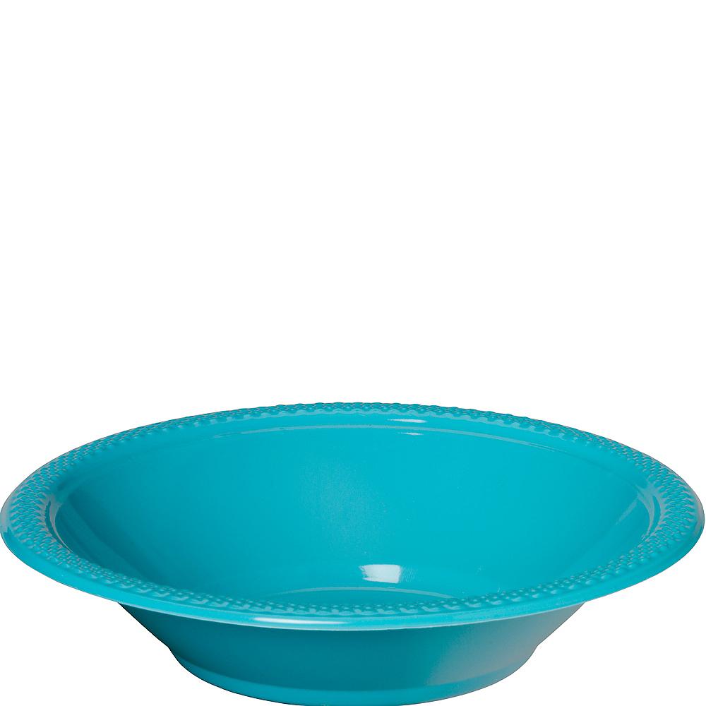 Caribbean Blue Plastic Bowls 20ct Image #1