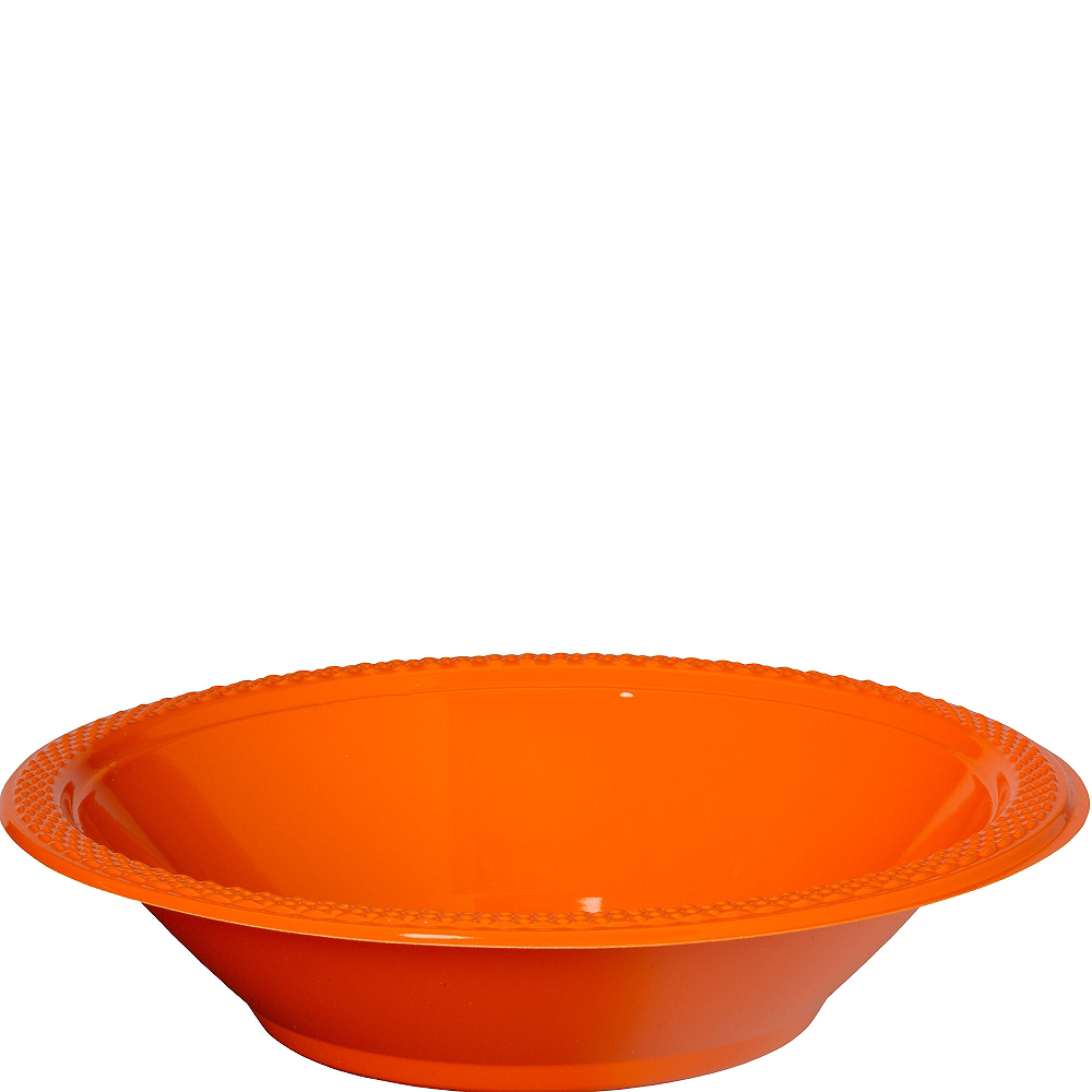Orange Plastic Bowls 20ct Image #1