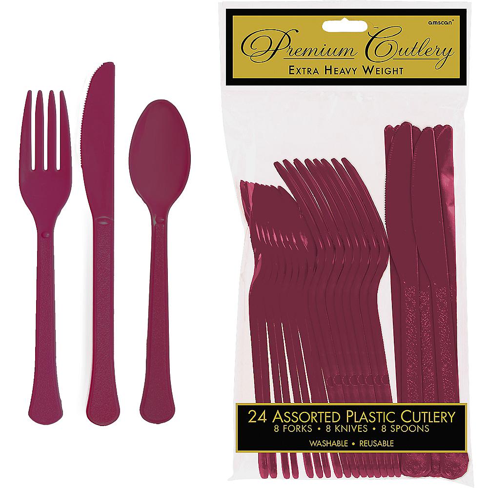 Berry Premium Plastic Cutlery Set 24ct Image #1