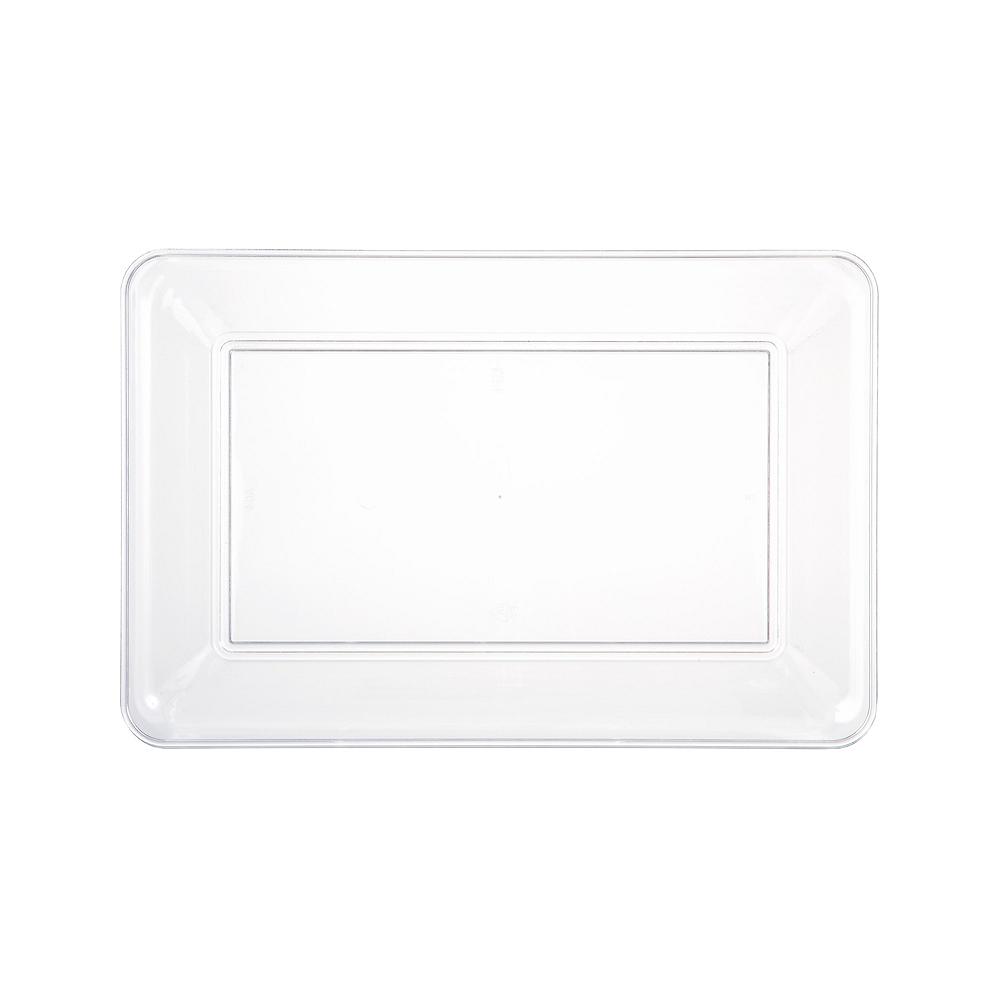 Medium Clear Plastic Rectangular Platter Image #1