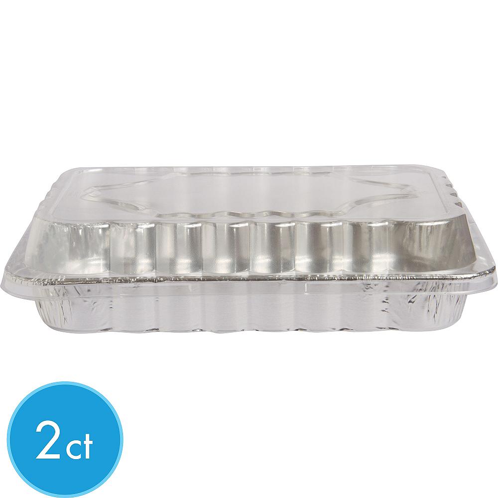 Aluminum Cake Pans with Lids 2ct Image #1