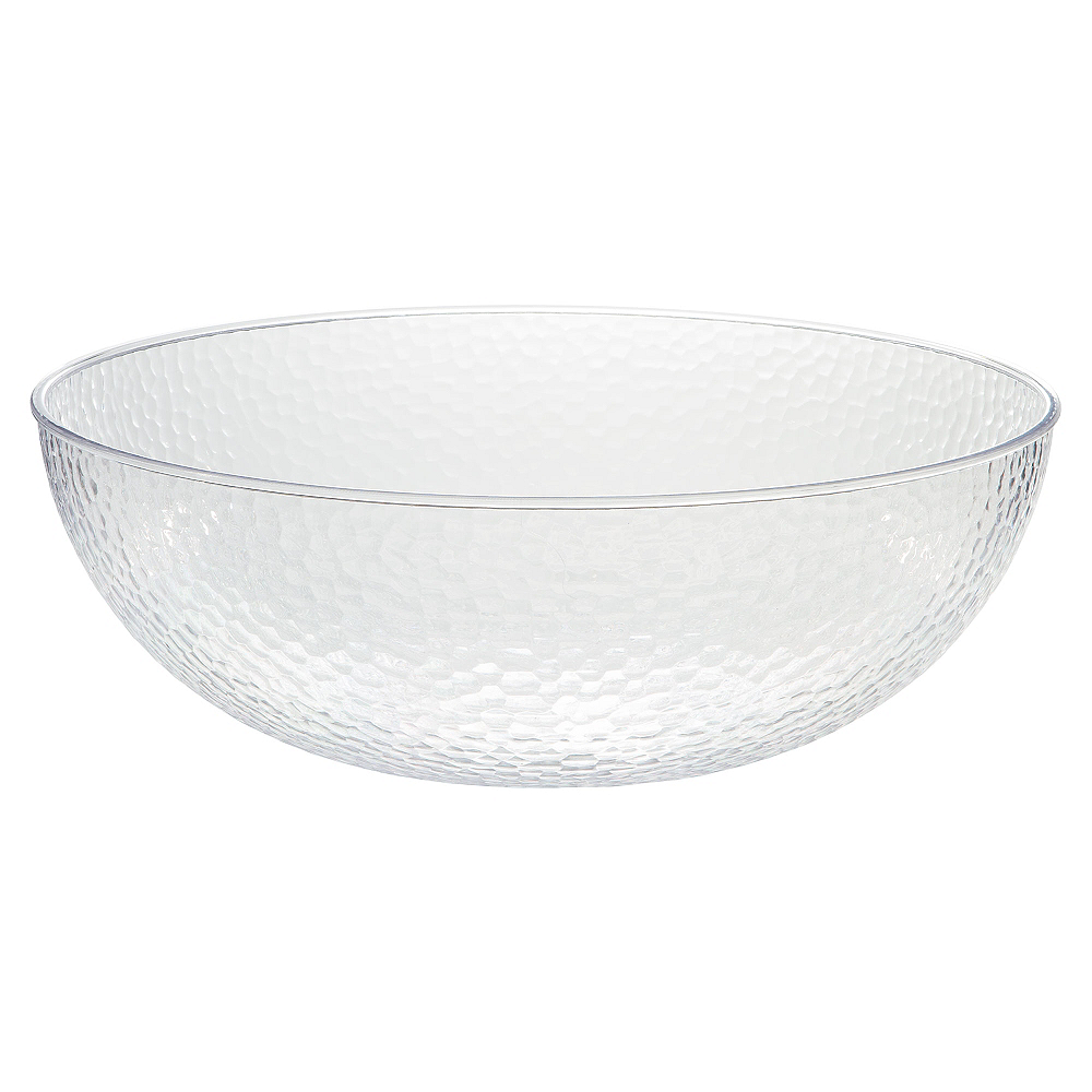 CLEAR Hammered Plastic Bowl Image #1